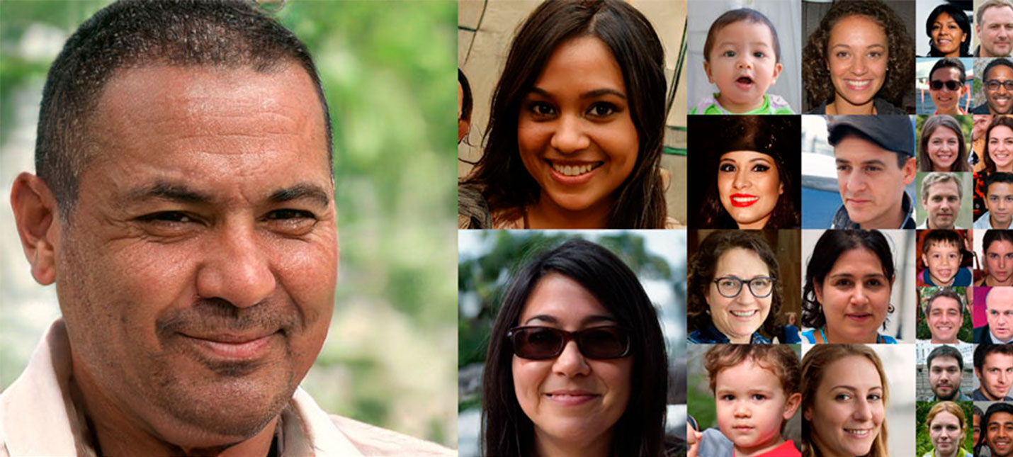 Найди отличия: лицо человека и сгенерированный ИИ фейк