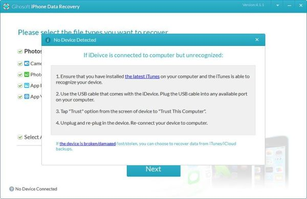 Gihosoft iPhone Data Recovery Free
