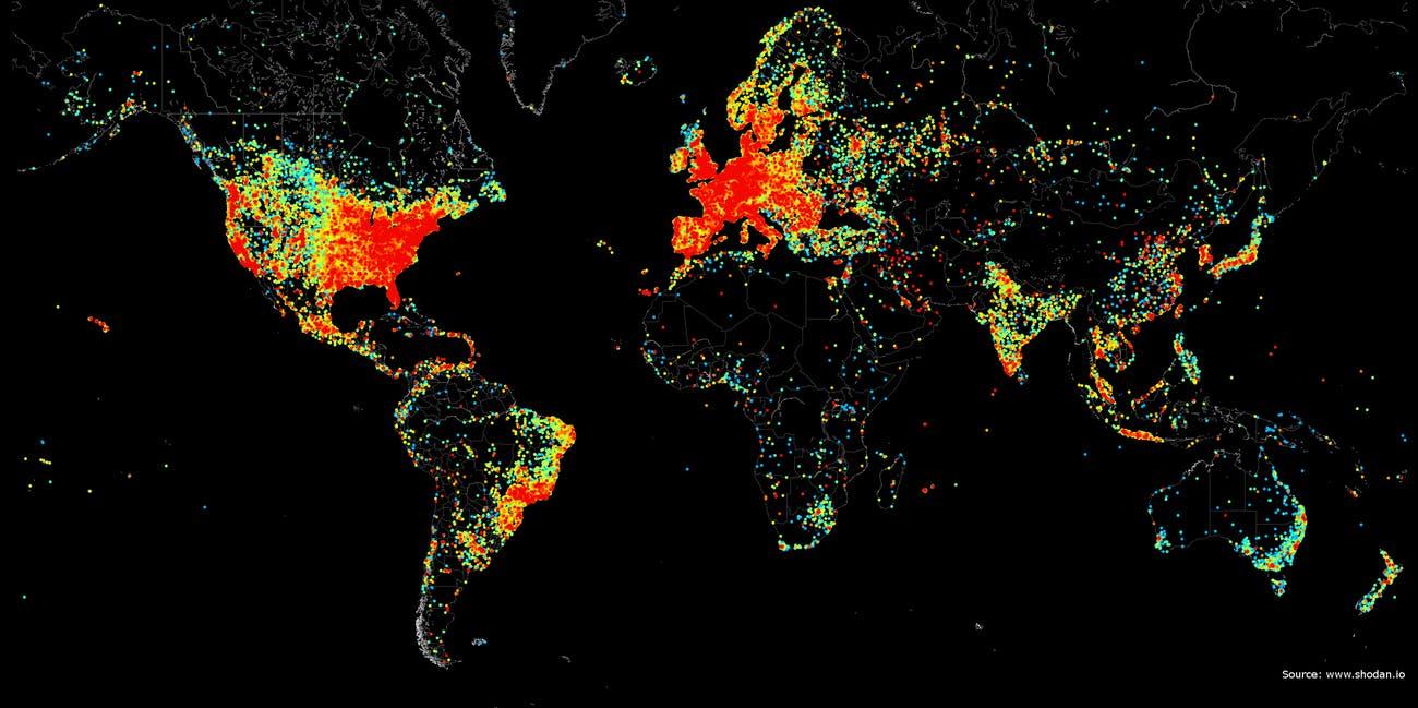 Малое распространение Интернета