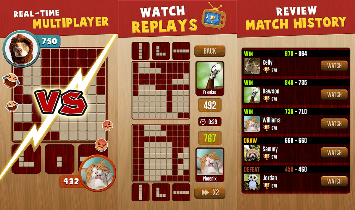 Woody™ Battle: Online Multiplayer Block Puzzle