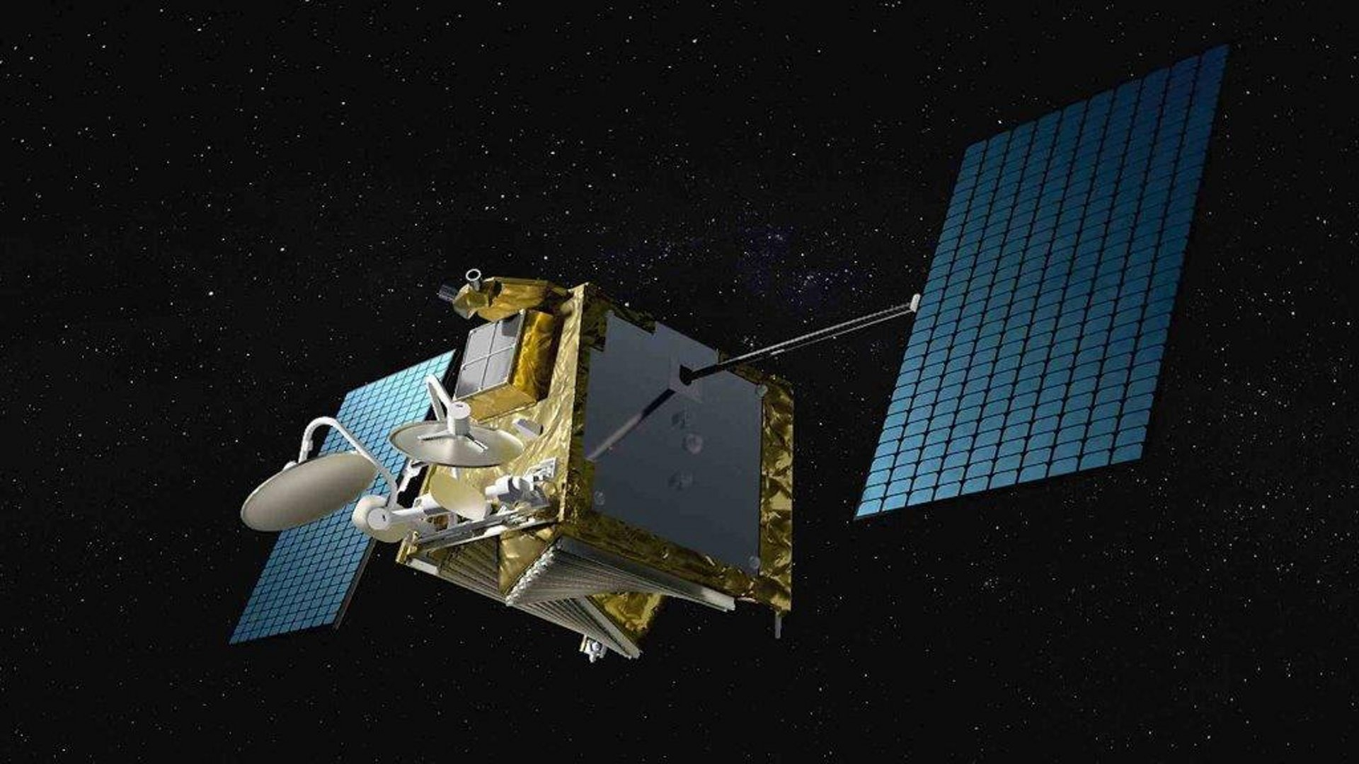 Один из спутников OneWeb на орбите