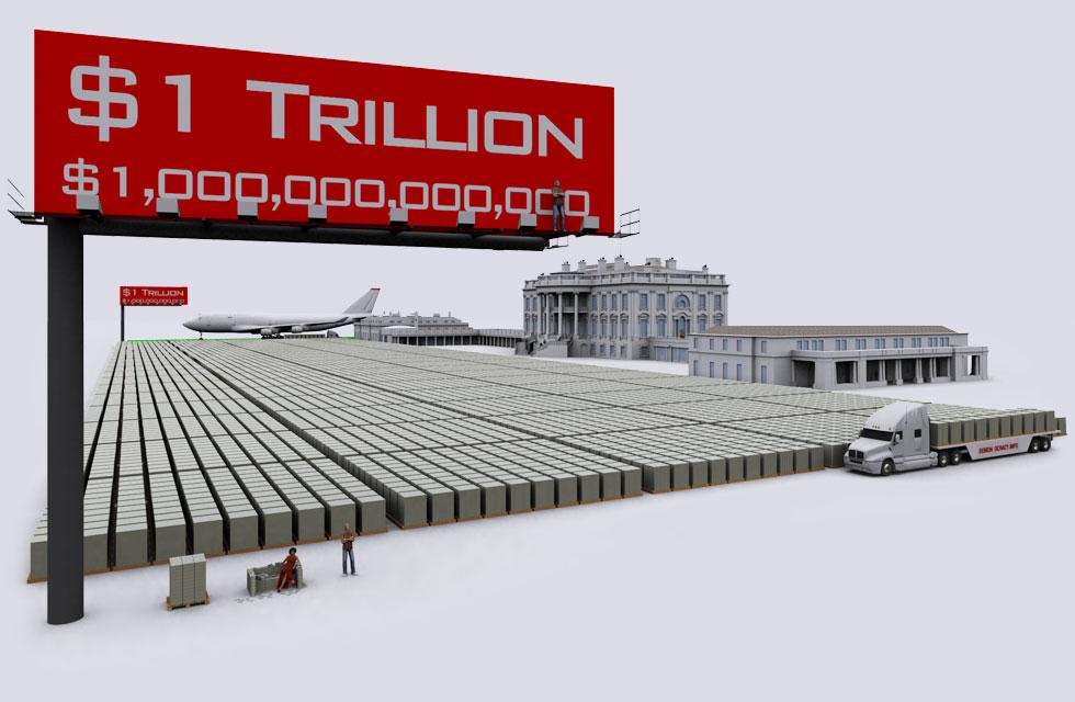 Триллион долларов в купюрах с Франклином выглядел бы так – а капитализация Microsoft еще больше…