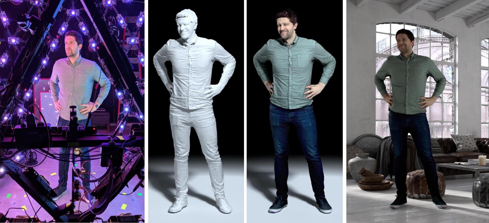 LED-сфера размером с комнату создает виртуальные 3D-модели людей