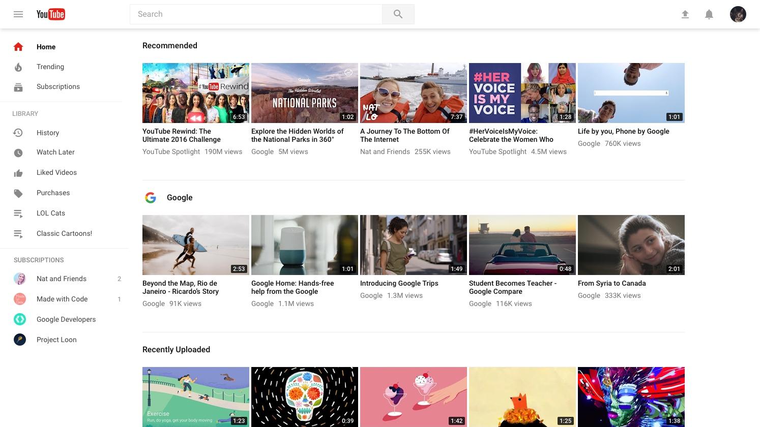 YouTube полностью переходит на новый дизайн
