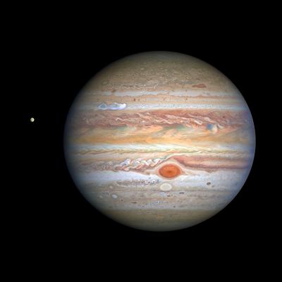 Телескоп «Хаббл» показал новый потрясающий вид Юпитера